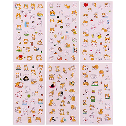 Briefpapier, Leuke Cartoon Dog Style Sticker Plakboek Decoratie PVC Briefpapier DIY Stickers School Office Supply