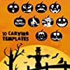 hostan Set di Strumenti di Intaglio di Zucca di Halloween, 4 Kit di Intaglio di Zucca in Acciaio Inox per Bambini con 2 luci di Candele a LED e 10 Modelli di Intaglio per Halloween Intaglio Creativo #3