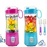 Portable Blender, Personal Juicer for Shakes and Smoothies Baby Food Processor and Blender