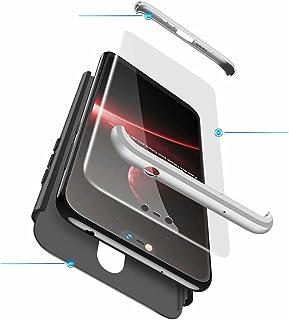 Jtailhne Kompatibel med Fodral Nokia X6 2018, 360° 3 i 1 hårt PC Tunn stöttåligt reptåligt Bumper case Svart Silver & 2X H...