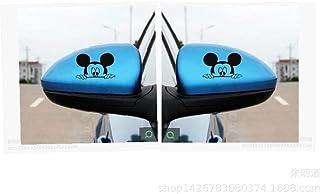 Zyunran Etiquetas engomadas del Coche del Espejo retrovisor - Dibujos Animados Animado Pegatinas del Coche de Mickey Pegatinas del Coche de Mickey Mouse un par de Equipos - Amarillo