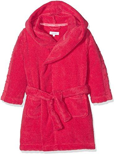 Calvin Klein Mädchen MODERN Cotton Robe Bademantel, Mehrfarbig (Azalea 501), 146 (Herstellergröße: L)