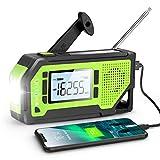 Emergency Weather Alert Radio, Greadio Hand Crank Solar Radio with AM/FM/NOAA, LCD Display, 2000mAh Power Bank, Bright Flashlight, SOS Alarm, Bottle Opener, Earphone Jack, Portable Radio for Emergency