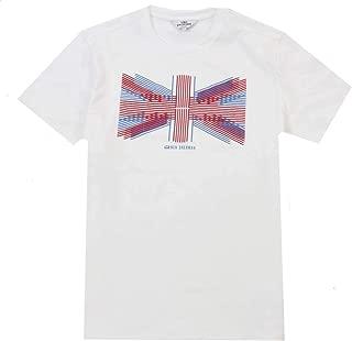Ben Sherman Mens Union Lines T-Shirt - White/Blue/Red