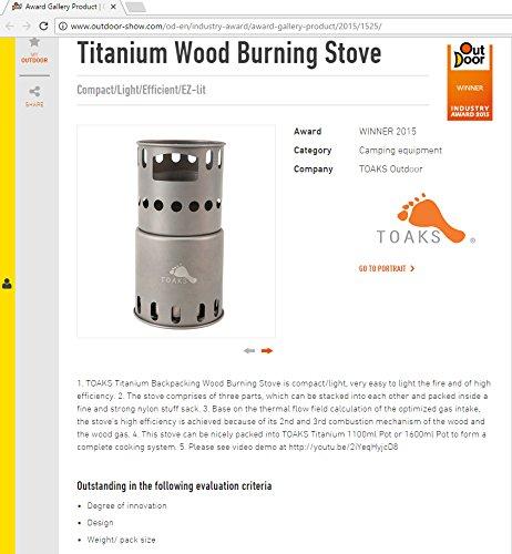 TOAKS Titanium Estufa de le/ña