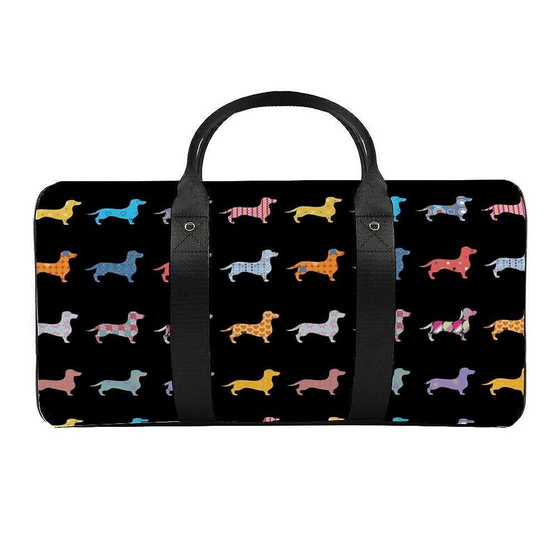 欠乏クール消化異なる色の犬ダッフルバッグ ボストンバッグ スポーツバッグ 旅行バッグ 旅行カバン メンズ レディース スポーツ ジムバッグ 大容量 ブランド