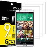 NEW'C 3 Unidades, Protector de Pantalla para HTC Desire 820, Antiarañazos, Antihuellas, Sin Burbujas, Dureza 9H, 0.33 mm Ultra Transparente, Vidrio Templado Ultra Resistente