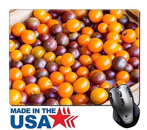 MSD Naturkautschuk Maus Pad/Matte mit genähte Kanten 9,8x 7,9Colorful Fresh Tropical Fruits in einer Holzkiste Bild 24286290
