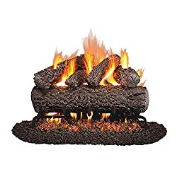 top 10 gas fire logs Peterson Real Fyre 18inch Oak Gas Log Burner Only Without