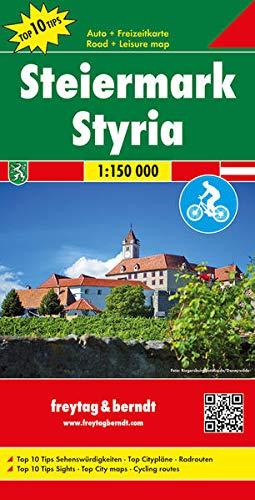 Steiermark, Autokarte 1:150.000, Top 10 Tips (freytag & berndt Auto + Freizeitkarten)