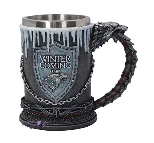 PERFECTLIFE Game of Thrones Winter is Coming Tankard Unisex Boccale da birra Multicolore, serie TV