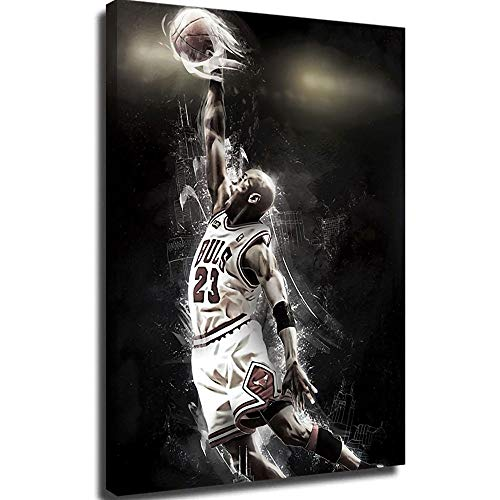 Lienzo con pintura al óleo para pared, diseño de Michael Jordan fondos de lienzo, 40,6 x 60,9 cm