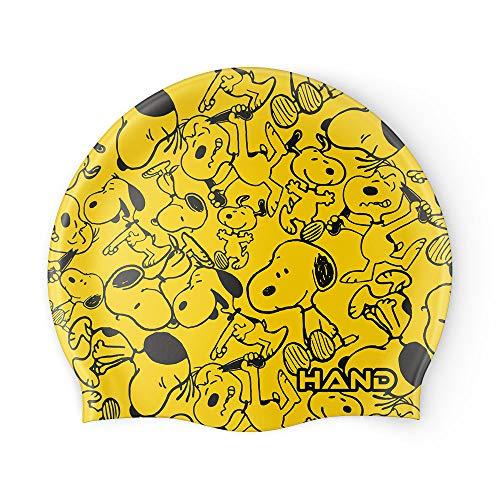 HAND SPORT Perro, Cuffia in Silicone, Cuffia Piscina, Cuffia Nuoto, Taglia Unica (Giallo)