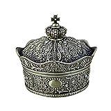 ZoSiP Caja de Almacenamiento de Joyas Retro Joyería del Estilo de aleación de Zinc Europea Retro Corona Diamante de la Caja Rose Princesa Caja de Regalo Cofres de Accesorios de Joyería