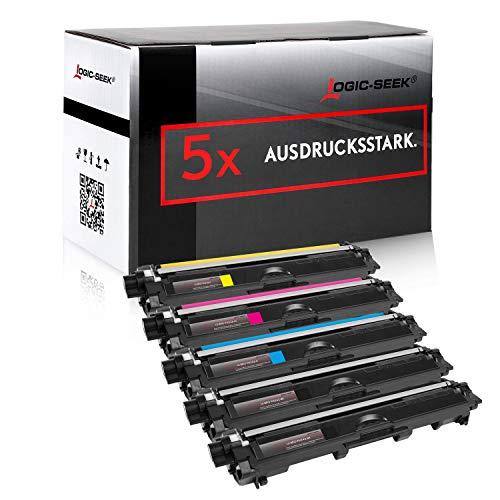 Logic-Seek 5 Toner kompatibel für Brother TN-242 TN-246 HL-3142 3152 3172 CW CDW DCP9017CDW - Schwarz je 2.500 Seiten, Color je 2.200 Seiten