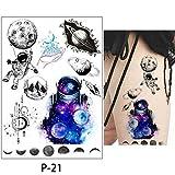 adgkitb 3 Piezas Color Dibujo Tatuaje Flamenco Lindo Gato Arte Tatuaje Temporal Pegatina Serie P 21 15x21 cm