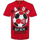 Manchester United FC - Camiseta oficial para niños - Con texto serigrafiado - Rojo - 3-4 años