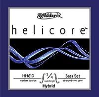 D'Addario ダダリオ ウッドベース(コントラバス)弦 HH614 3/4M Helicore Hybrid Bass Strings / E-nickel 【国内正規品】