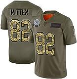 MMW - Camiseta de fútbol americano Lvlo Witten #82, Dallas Cowboys Training Rugby Jersey de equipo deportivo, camiseta de rugby, unisex, color verde, tamaño XL(185~190cm)