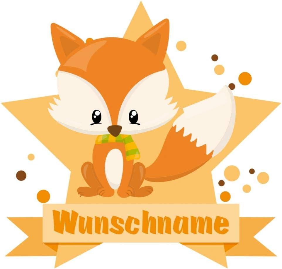Samunshi Baby Fuchs Aufkleber Mit Namen Autoaufkleber Namensaufkleber Kinder In 7 Größen 10x8 8cm Mehrfarbig Küche Haushalt