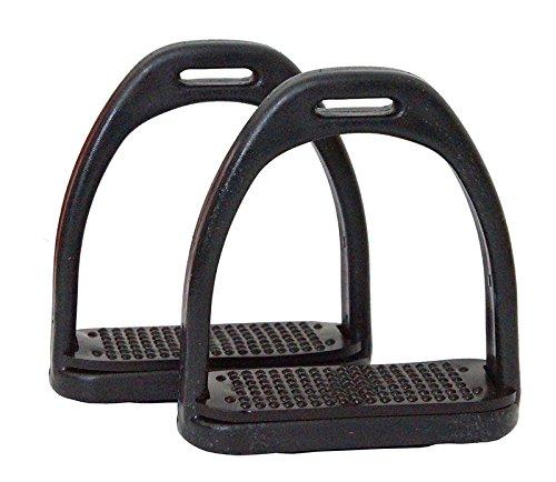 Steigbügel Kunststoff schwarz Trittweite: 11,5 cm