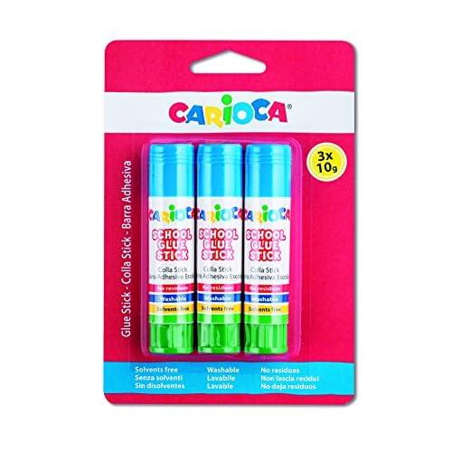 Carioca School Glue Confezione di 3 tubetti di colla (3 x 10 g)