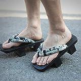 YXCKG Ciabatte Giapponesi Pantofole Sandali in Legno Giapponesi Tradizionali Kimono da Donna, Sandali Geta in Legno, Adulto Flip Flops Scarpe da Spiaggia E Piscina Infradito Donna