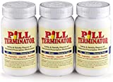 Pill Terminator - Best Safe Rx Pharmaceutical Med Destroyer & Disposal System - Dispose Old RX Medication Drugs – Pill & Liquid Buster – Pack of 3 Containers.