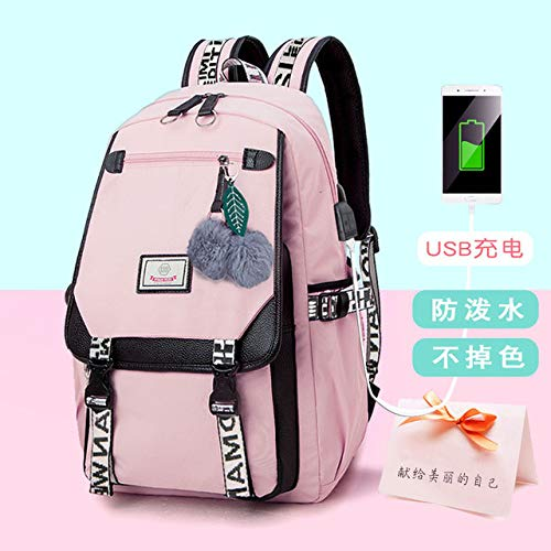 MNBVCX Shoulder Korean Schoolbag Large Capacity Backpack Women