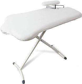 Table à repasser extra large avec pieds en T en acier et planche à manches, cadre en fer, repose-fer large pour la buander...