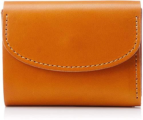 【NewStep】牛革 ミニウォレット 栃木レザー [キャメル/メンズ] 薄型 ミニ財布 二つ折り 本革 人気 小さい 小型 コンパクト かわいい シンプル おしゃれ スマート ビジネス カジュアル <ギフト&プレゼント>