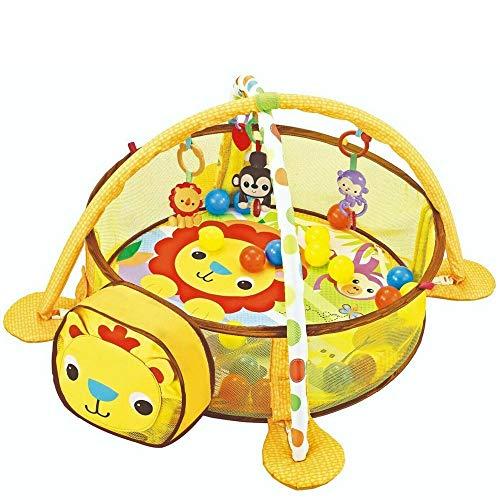 Palestrina Tappeto Recinto Gioco per Neonato Leoncino Fitch Baby In morbido Tessuto Con Giocattoli Pendenti Trasformazione in Box con Palline