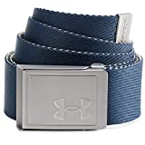 Under Armour Men's Webbing Belt 2.0 , Academy Blue (408)/Silver , One Size Fits All