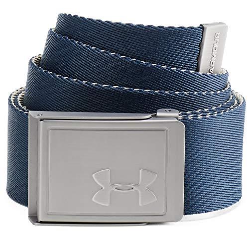 Under Armour, Men'S Webbing 2.0 Belt, Cintura, Uomo, Blu (Academy/City Khaki/Academy 408), Taglia Unica