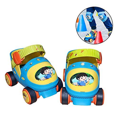 Rollshuhe Kinder, Kinder Schutzset Rollshuhe Mit, SBS Anti-Rutsch-Leichtgewicht für Kid ab 2 Jahre 6 Jahre Rollschuhe aus hochwertigem Material mit einstellbarer thermoplastischer Elastizität