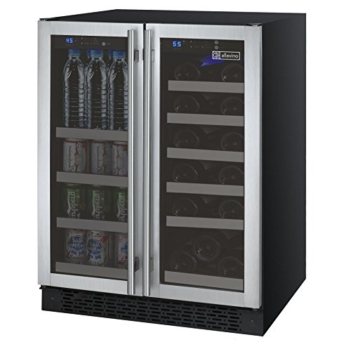 Allavino FlexCount VSWB-2SSFN French Door Wine Refrigerator/Beverage Center - Stainless Steel Doors