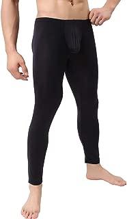 QiaTi Men's Tight Long Underwear Sexy Long Pants Sexy Tight Underwear Soft Compression Underwear for Men Long Leggings Pants