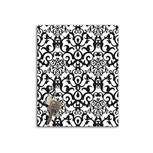 Dalinda Steelprint Porte-clefs Mural avec Design Noir/Blanc Motif sB757 relaxdays Porte-clés