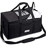 CarreGas Hot Food Delivery Bag Insulated, Premium Thermal Cooler Bag Large Capacity Suitable For Cold and Hot Food, Catering, Takeaway Home Delivery, Groceries Organiser Picnic Cooler Bag