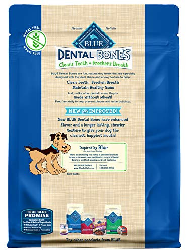 Blue Buffalo Dental Bones Natural Adult Dental Chew Dog Treat  Mini 27-oz bag Value Pack