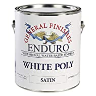General Finishes Water Based White Poly, 1 Gallon, Satin