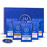 JUJU Coffee Sampler Pack Whole Bean Coffee 100% Highest Gourmet Arabica And JUJU Coaster (5 Bags of 2oz)