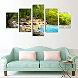 YYTOOF HD 5 Canvas Wall Art Modern 5Pcs / Set of Frescoes Modern Canvas Printed Pastoral Painting Landscape Wall Pictures Home DecorationNo Frame