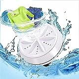 Portable Ultrasonic Washing Machine,Mini Turbo Washer, Turbine Sterilizes Compact Washer with USB for Travel, Business Trip Apartment,Dorm (White)