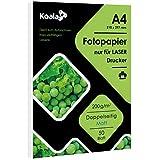 Koala Fotopapier Matt Laserdrucker Doppelseitig bedruckbar A4 Farblaserdrucker 50 Blatt