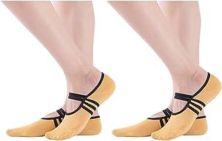 2 Pares Calcetines Antideslizantes Para Mujeres, Silicona Gránulos de Masaje con Algodón - Barre, Yoga, Pilates, Fitness
