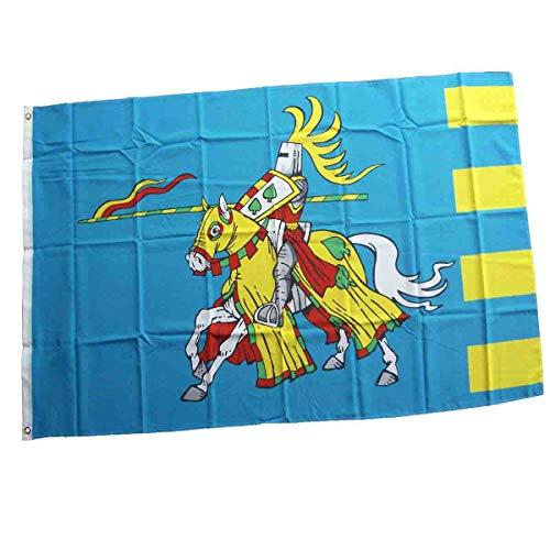 Firlefantastisch Große Ritterflagge zum Aufhängen in Blau