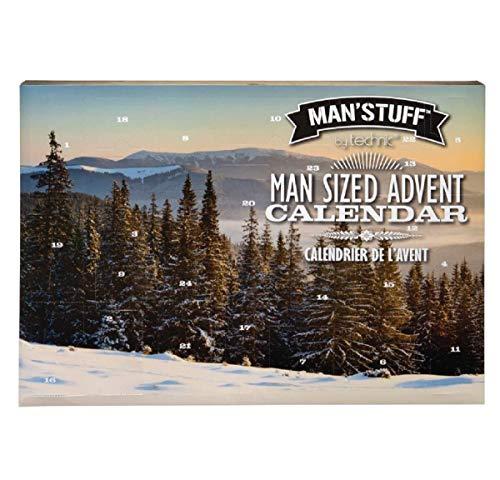 Man'Stuff by Technic - Juego de regalo de Adviento para hombre (24 días), diseño de calendario y regalo de colección contiene productos de aseo para hombres, kit de aseo de Navidad.