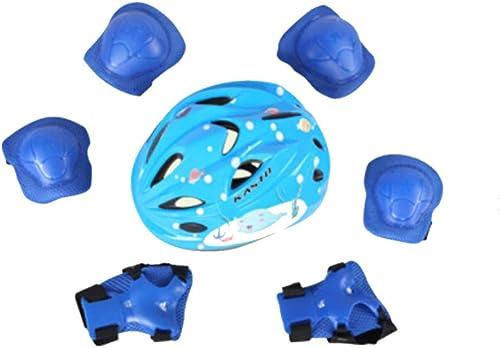 más orden YSHCasco 7 Unids Kid Niño Auto Equilibrio Rodillo De De De La Bici Rodillera Codo Casco Helmet Pad Projoeger Cabeza Ciclismo Casco De Seguridad Accesorios De La Bici,azul-M7yearsold-14yearsold  aquí tiene la última