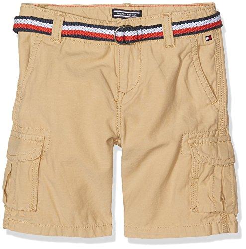 Tommy Hilfiger Jungen AME Cargo Short WHS GD Badeshorts, Beige (Curds & Whey 051), 140 (Herstellergröße: 10)